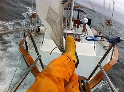 Captain Dan sailing